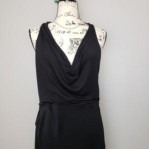 Halston Heritage Asymmetrical Little Black Dress L
